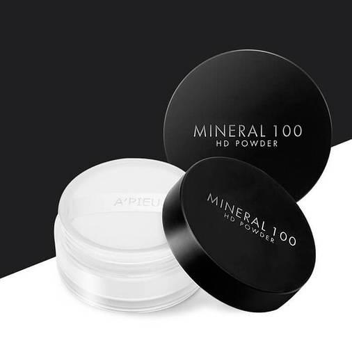 Пудра финишная минеральная A'PIEU Mineral 100 HD Powder, 4g, оригинал, фото 2