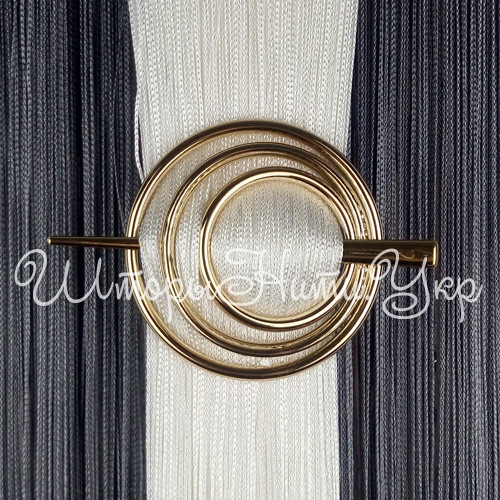 Заколка для штор нитей Круг №1 Золото глянец