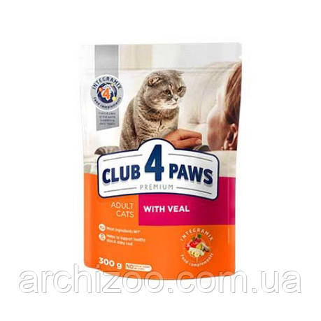 Клуб 4 лапы 14 кг  для кошек с телятиной , фото 2