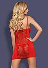 Ночная сорочка на косточках красная стринги в комплекте Obsessive Heartina, фото 2