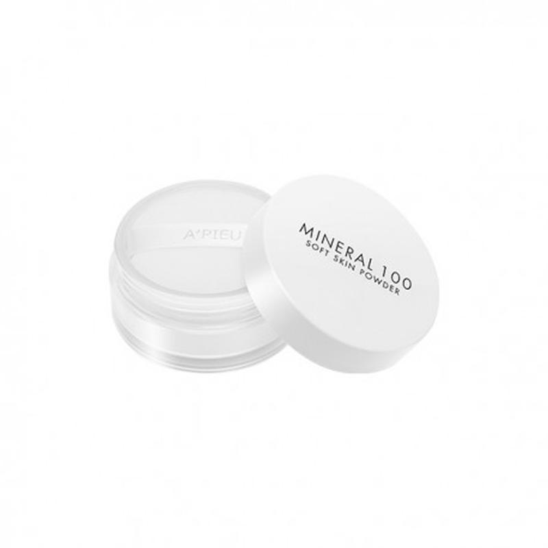 Пудра минеральная рассыпчатая A'pieu Mineral 100 Soft Skin Powder, 4g, оригинал