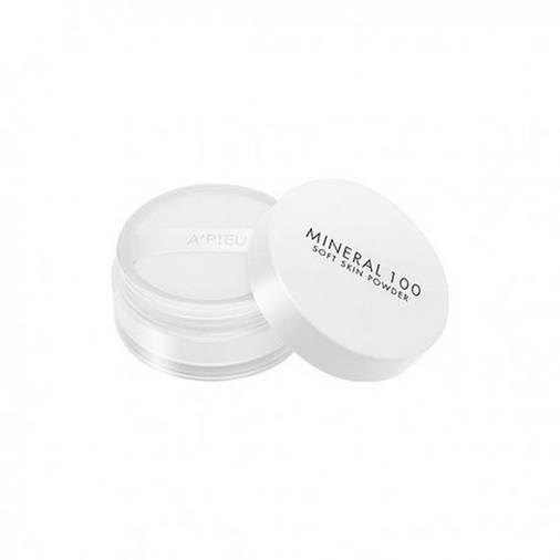 Пудра минеральная рассыпчатая A'pieu Mineral 100 Soft Skin Powder, 4g, оригинал, фото 2