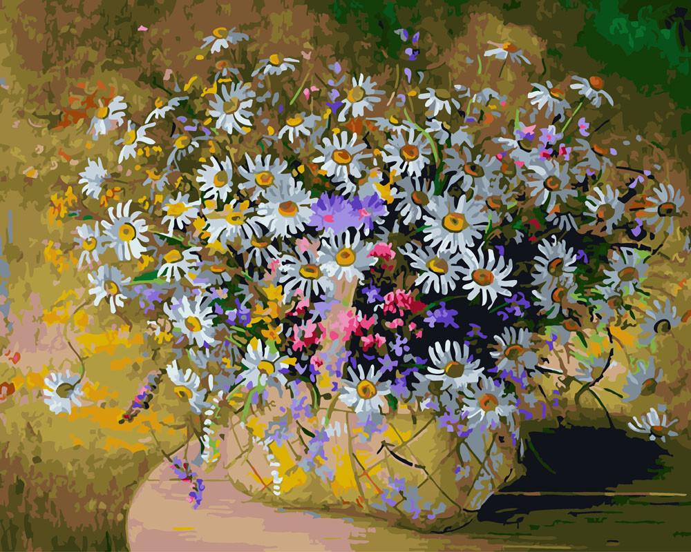 Картина по номерам Ромашки в лукошке 40 х 50 см (BK-GX24644)