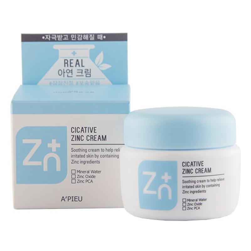 Крем с цинком A'PIEU Cicative Zinc Cream,антисептический крем, противовоспалительный крем, оригинал