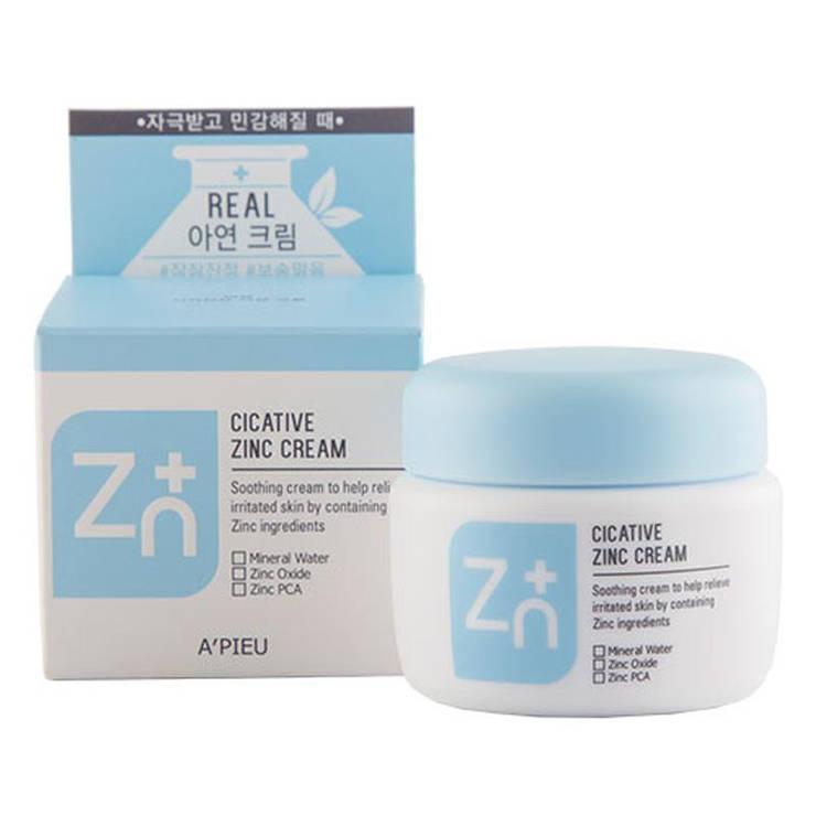Крем с цинком A'PIEU Cicative Zinc Cream,антисептический крем, противовоспалительный крем, оригинал, фото 2