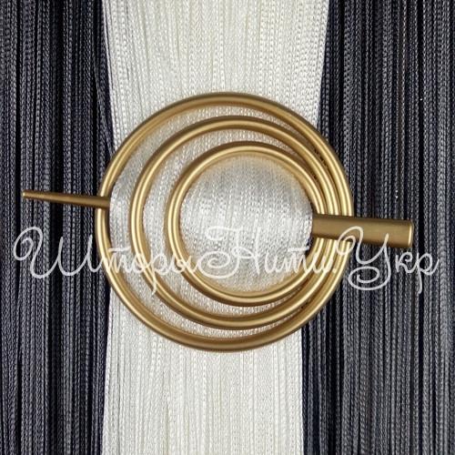 Заколка для штор нитей Круг №3 Золото матовый