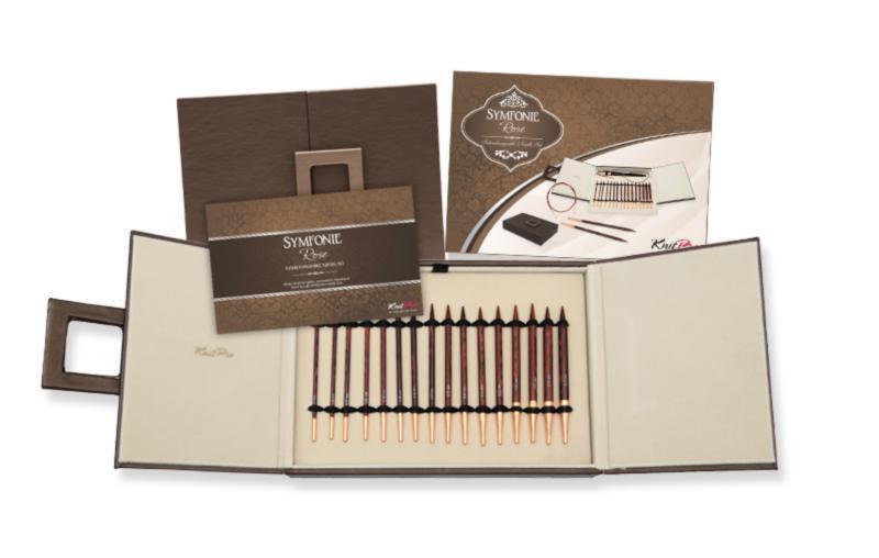 20617 Набор деревянных съемных спиц Deluxe в подарочной коробке Simfonie Rose KnitPro