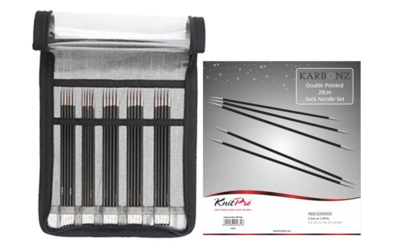 41615 Набор носочных спиц 20 см. Karbonz KnitPro