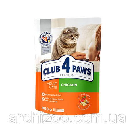 Клуб 4 лапы 14 кг  для взрослых кошек с курицей