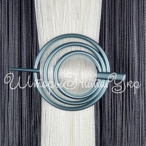 Заколка для штор нитей Круг №10 Голубой, фото 1