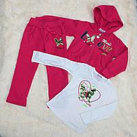 Детский спортивный костюм для девочки, на рост - 104, 128, 140 см (арт.СJ-1408 Венгрия)
