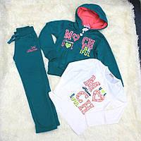 Детский спортивный костюм для девочки, на рост - 128, 134, 146 см (арт.СJ-1409 Венгрия)