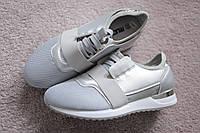 Женские кроссовки стального серого цвета перфорация 39 размер