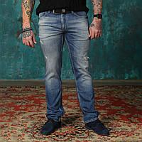 Мужские джинсы светло-синие Philipp Plein. РЕМЕНЬ В ПОДАРОК.
