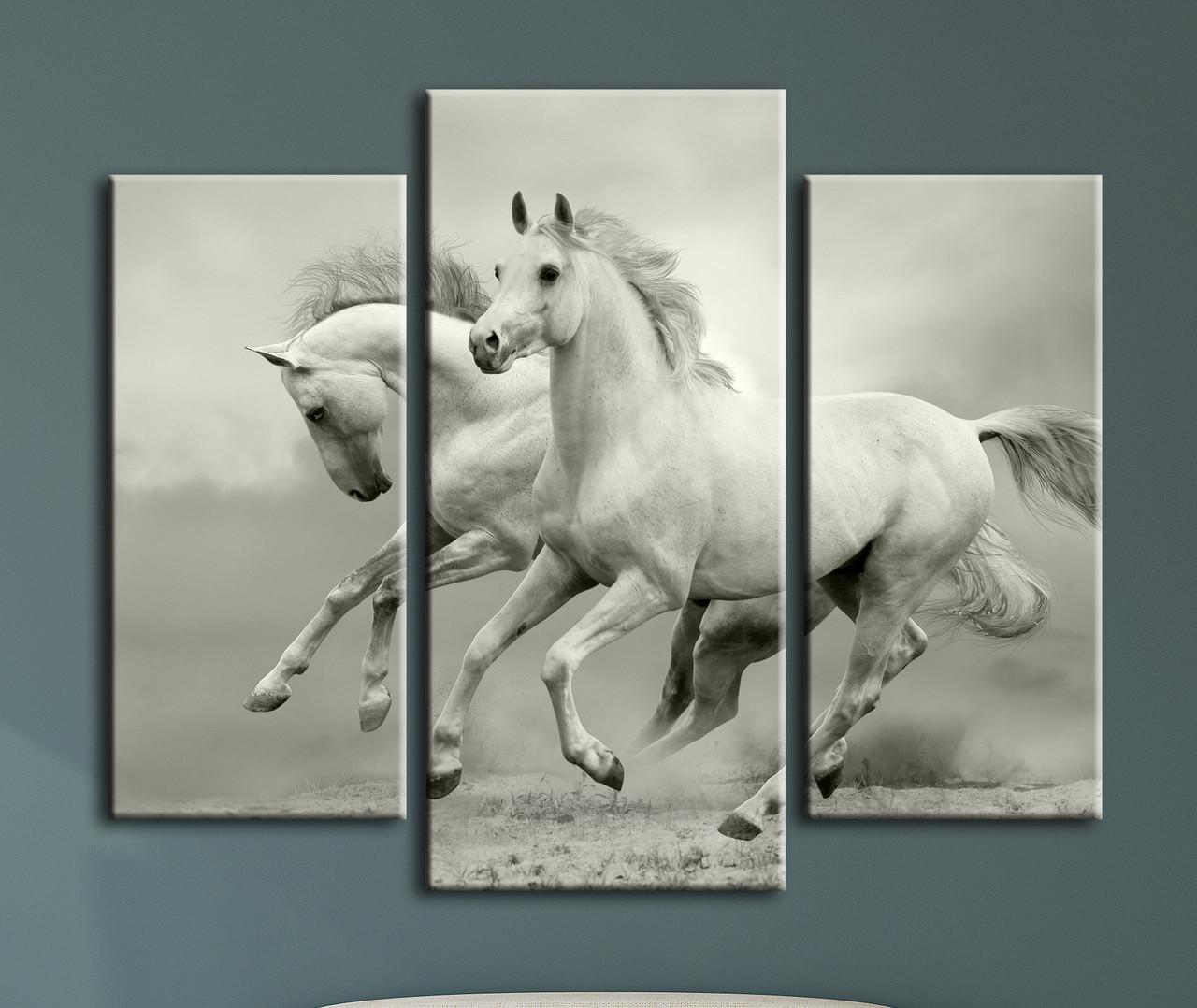 """Модульная картина """"Свободные лошади"""""""