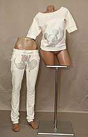Женский Спортивный костюм Микки Маус Турция бежевый реглан, фото 1