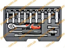 Набор торцевых ключей YATO с квадратом 1/4 (код YT-14451).