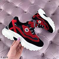 Красные крутые женские кроссовки, фото 1