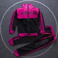 Спортивный детский костюм в стиле Adidas для девочки на рост 110-140 см