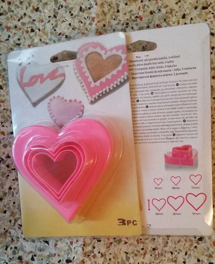 Форма вырубка пластмассовая для печенья  Сердце