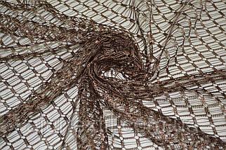 Тюль сетка коричневая, фото 2