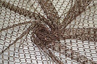 Тюль сетка коричневая, фото 3