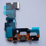 Шлейф Novacel для Apple iPhone 7 коннектора зарядки коннектора навушників Black, фото 2