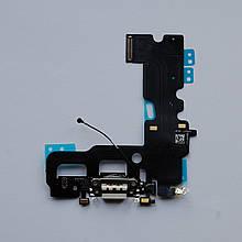 Шлейф Apple iPhone 7 коннектора зарядки, коннектора навушників, з компонентами Silver