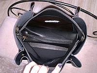 Женская сумка глиттер + косметичка,большая, фото 4
