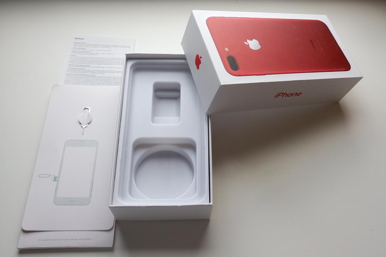 Коробка Apple iPhone 7 Plus Red