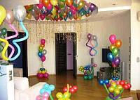 Оформление воздушными шарами квартиры на день рождения