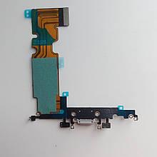 Шлейф Novacel для Apple iPhone 8 Plus коннектора зарядки коннектора навушників з компонентами Silver
