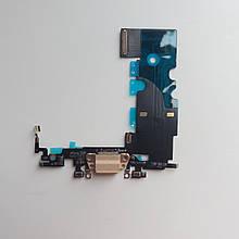 Шлейф Novacel для Apple iPhone 8 коннектора зарядки коннектора навушників з компонентами Gold