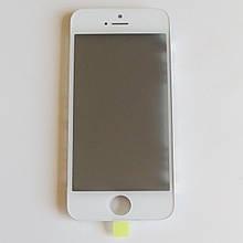 Скло корпусу Novacel для Apple iPhone 5 з рамкою OCA плівкою поляризаційної плівкою White