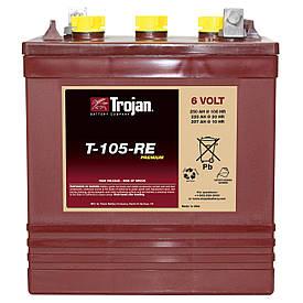 Аккумулятор глубокого цикла для ВИЭ Trojan T-105-RE 250Ач(100ч) 6В