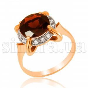 Золотое кольцо с гранатом 6956