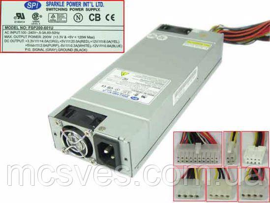 Блок питания серверный FSP 200 Вт Low Profile 1U FSP-200-601U