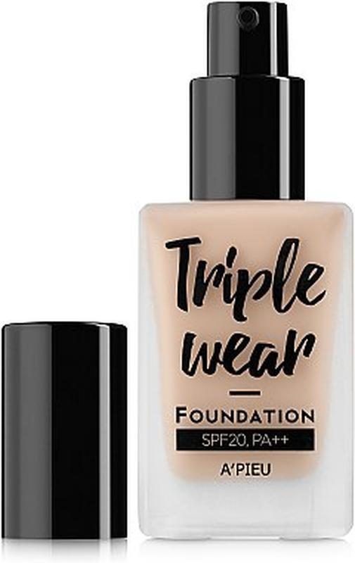 Тональная основа A'PIEU Triple Wear Foundation SPF20/PA++(No.3/Warm Ivory),тональный,солцезащитный,оригинал