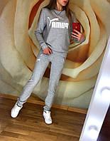 Женский спортивный костюм весна-осень Puma (42-44, 44-46, 46-48, 48-50) (цвет серый) СП