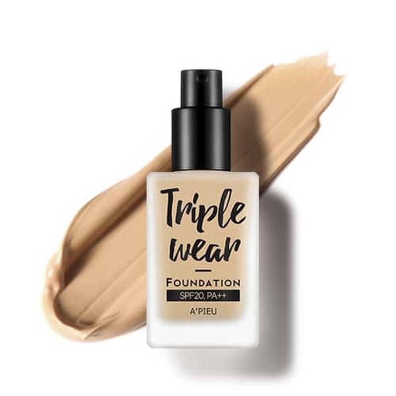 Тональная основа A'PIEU Triple Wear Foundation SPF20/PA++ (No.5/Sand), тональный крем, солнцезащитный,оригинал, фото 2