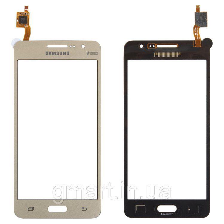 Сенсорный экран Samsung G530H Galaxy Grand Prime золотистый (тачскрин, стекло в сборе), Сенсорний екран Samsung G530H Galaxy Grand Prime золотистий