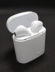 Наушники Airpods  i7S TWS bluetooth  white кейс ХИТ