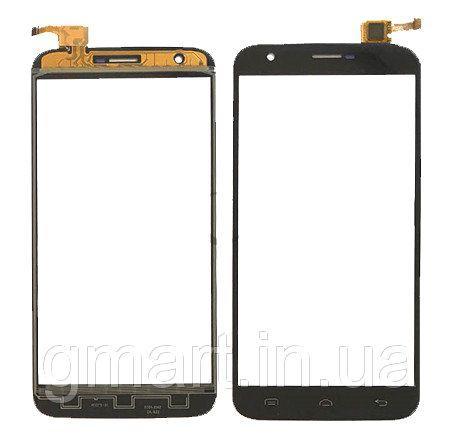 Сенсорный экран Doogee Y100 Plus черный (тачскрин, стекло в сборе), Сенсорний екран Doogee Y100 Plus чорний (тачскрін, скло в зборі)