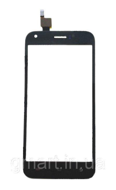 Сенсорный экран Ergo A502 черный (тачскрин, стекло в сборе), Сенсорний екран Ergo A502 чорний (тачскрін, скло в зборі)