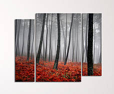 """Модульная картина """"Таинственный лес"""""""