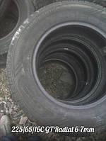 Летние грузовые Шины Б/У 225/65/16C GT Radial протектор 6-7 мм