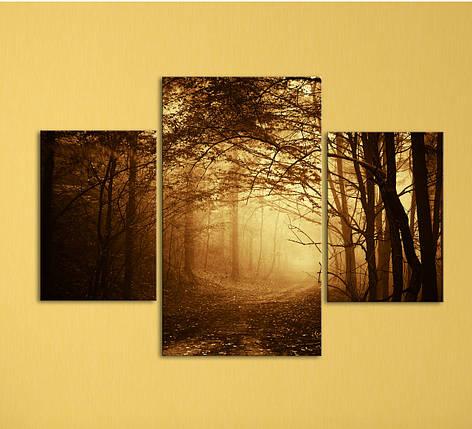 """Модульная картина """"Дорога в лесу"""", фото 2"""