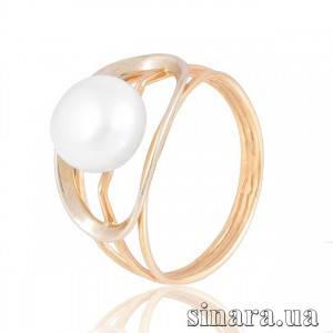 Золотое кольцо с жемчугом 2580