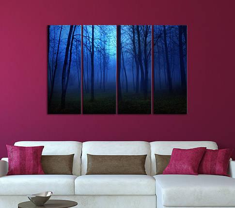 """Модульная картина """"Сумеречный лес"""", фото 2"""