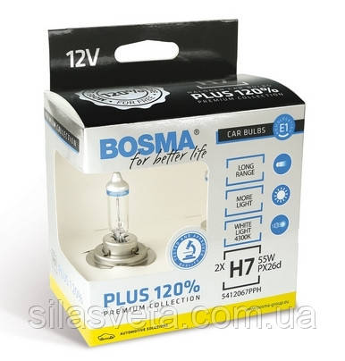 "Автолампы ""Bosma"" (H7)(+120%)(DUOBOX)"